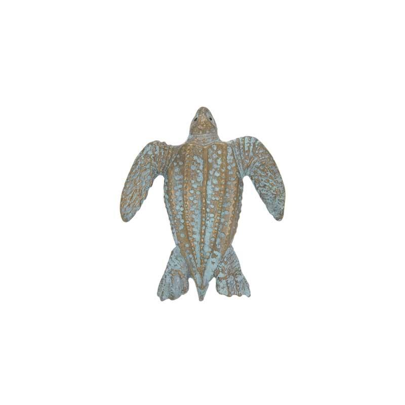 Leatherback Turtle Pin, Bronze
