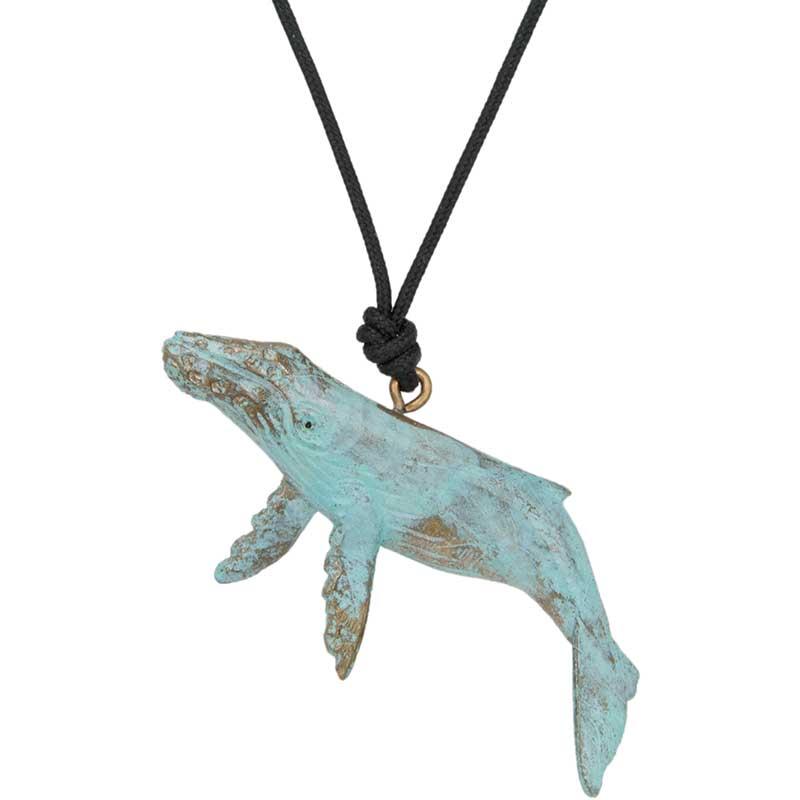 Humpback Whale Pendant, Bronze
