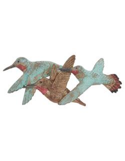3 Rufous Hummingbirds Pin