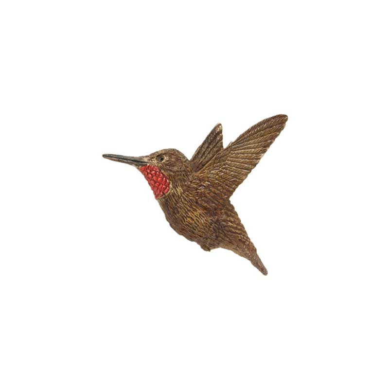 Male Rufous Hummingbird Pin, Bronze