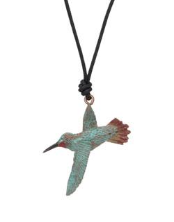 Gliding Rufous Hummingbird Pendant
