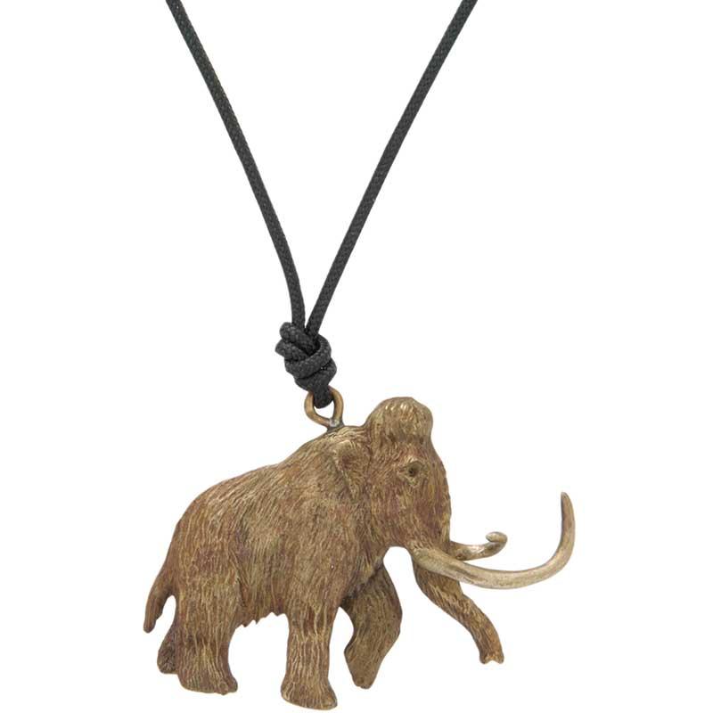 Woolly Mammoth Pendant, Bronze