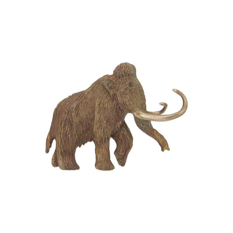 Woolly Mammoth Pin, Bronze