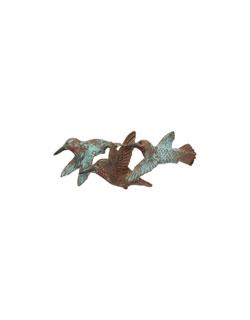 Small 3 Rufous Hummingbirds Pin