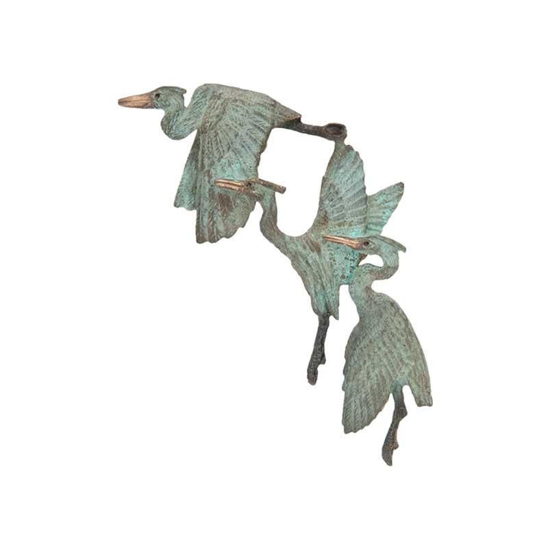 Small 3 Herons Pin, Bronze