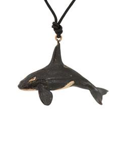 Male Orca Pendant