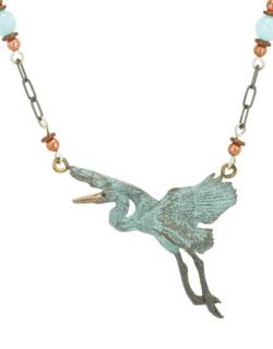 Gliding Heron Necklace