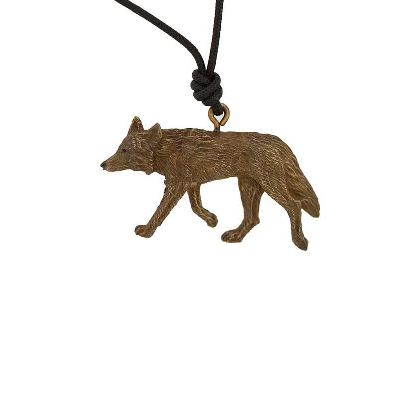 Wiley Coyote Pendant, Bronze