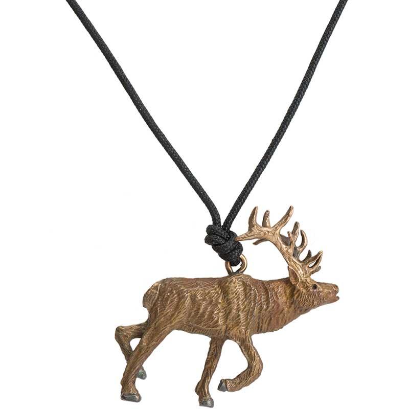 Elk Pendant, Bronze