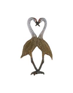 Sandhill Crane Heart Pin