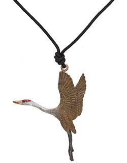 Sandhill Crane Pendant