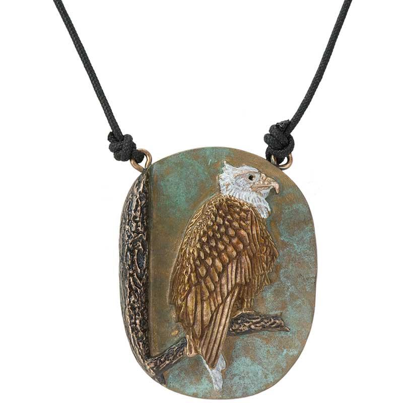 Eagle on Branch Pendant, Bronze