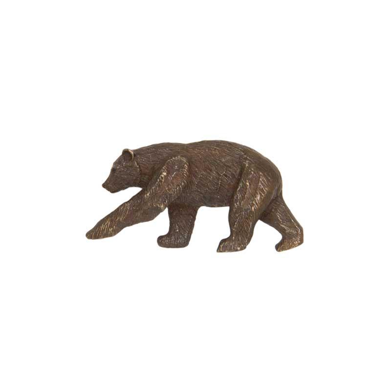 Brown Bear Pin, Bronze