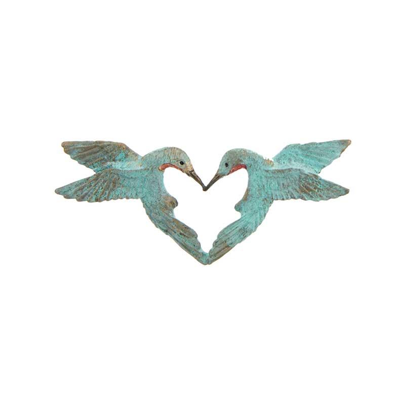 Hummingbird Heart Pin