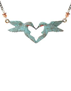 Hummingbird Heart Necklace