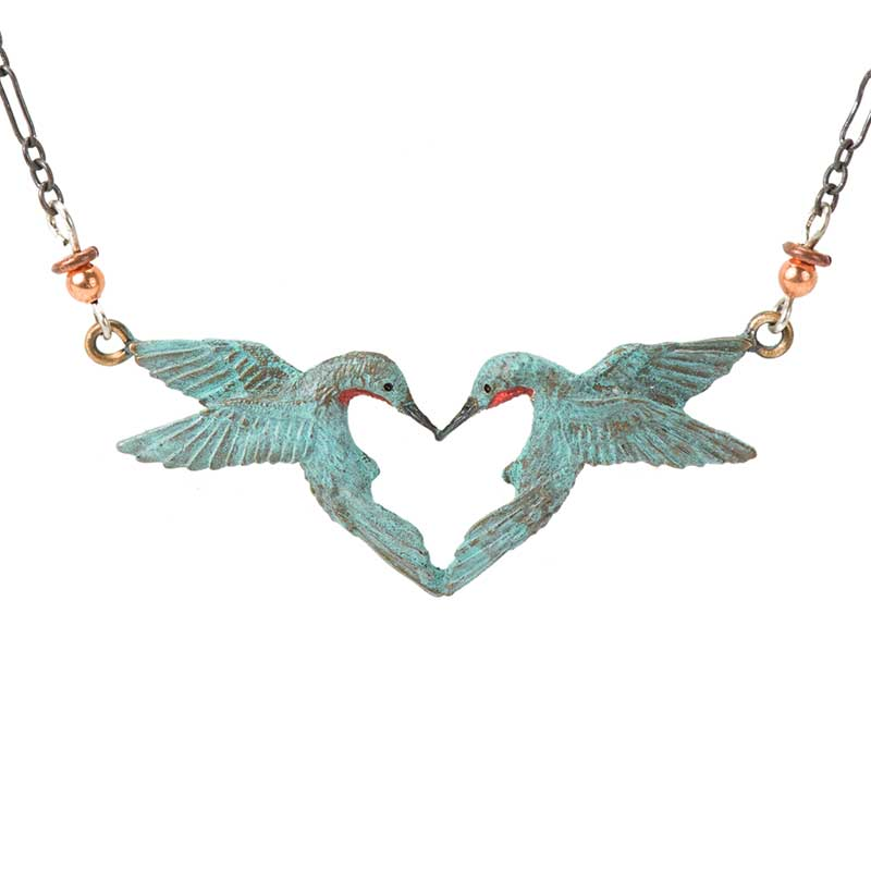 Hummingbird Heart Necklace by Cavin Richie