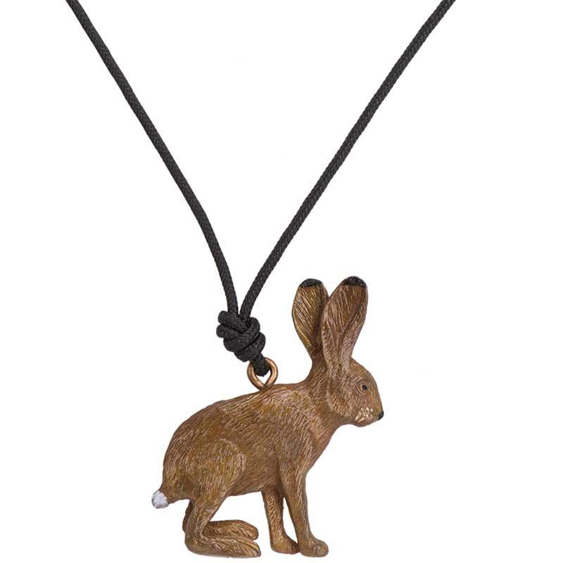 Jack Rabbit Pendant, Bronze