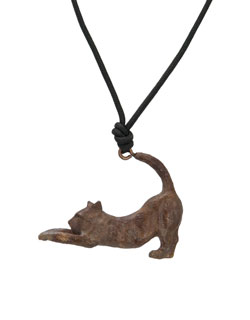 Stretching Cat Pendant