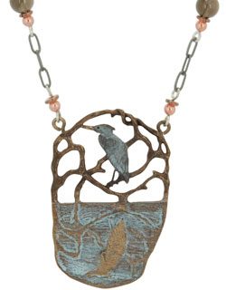 Heron Reflections Necklace