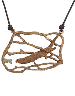 Otter Chasing Trout  Pendant