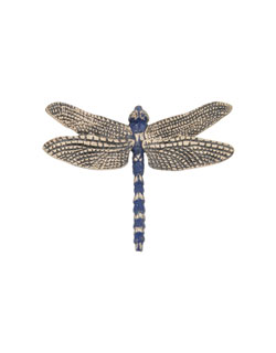 Blue Dragonfly Pin