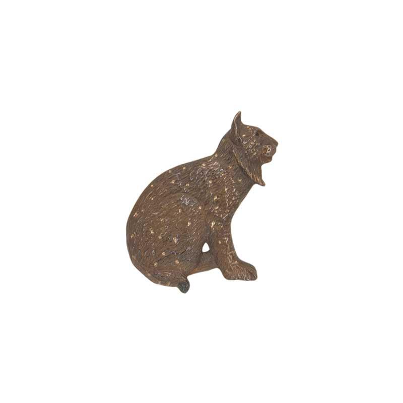 Bobcat Pin, Bronze