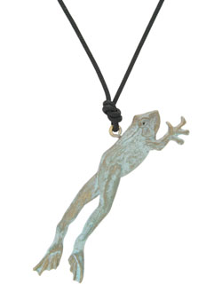 Leaping Frog Pendant
