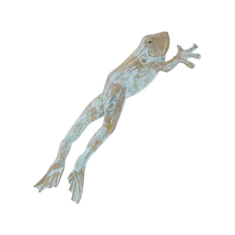 Leaping Frog Pin, Bronze