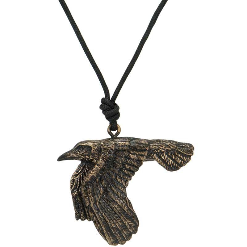 Flying Raven Pendant