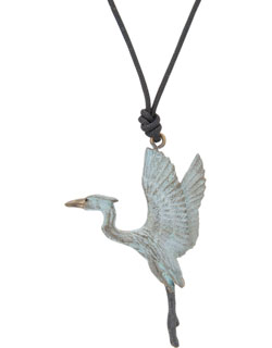 Heron Rising Pendant