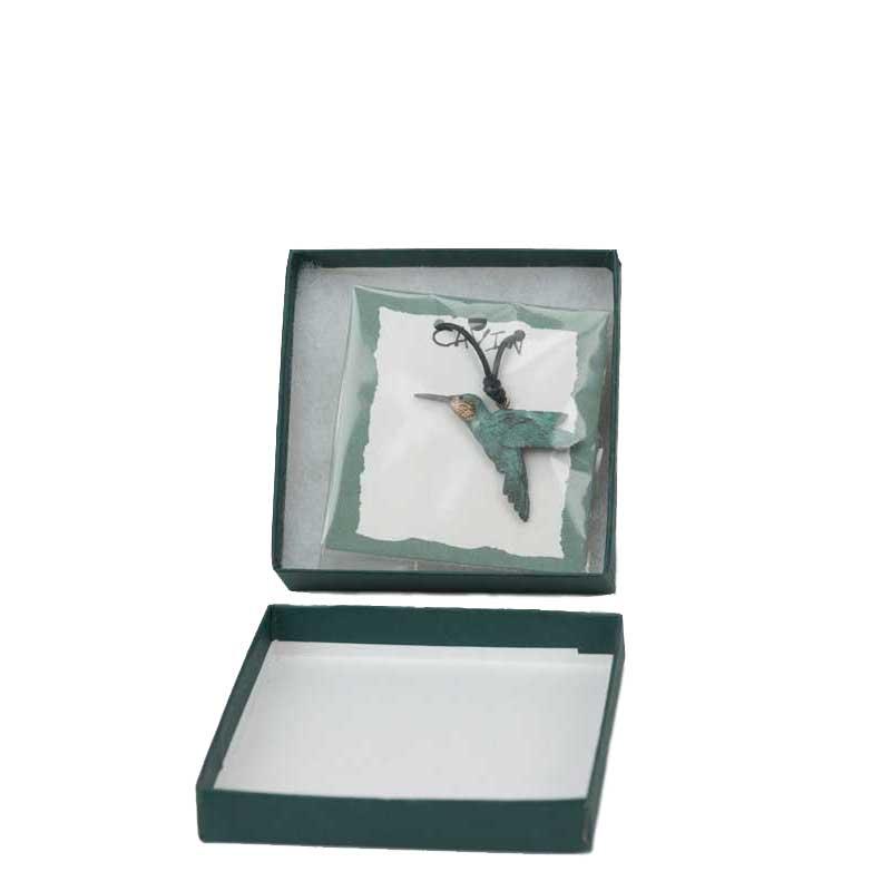 Hummingbird Pendant, Bronze