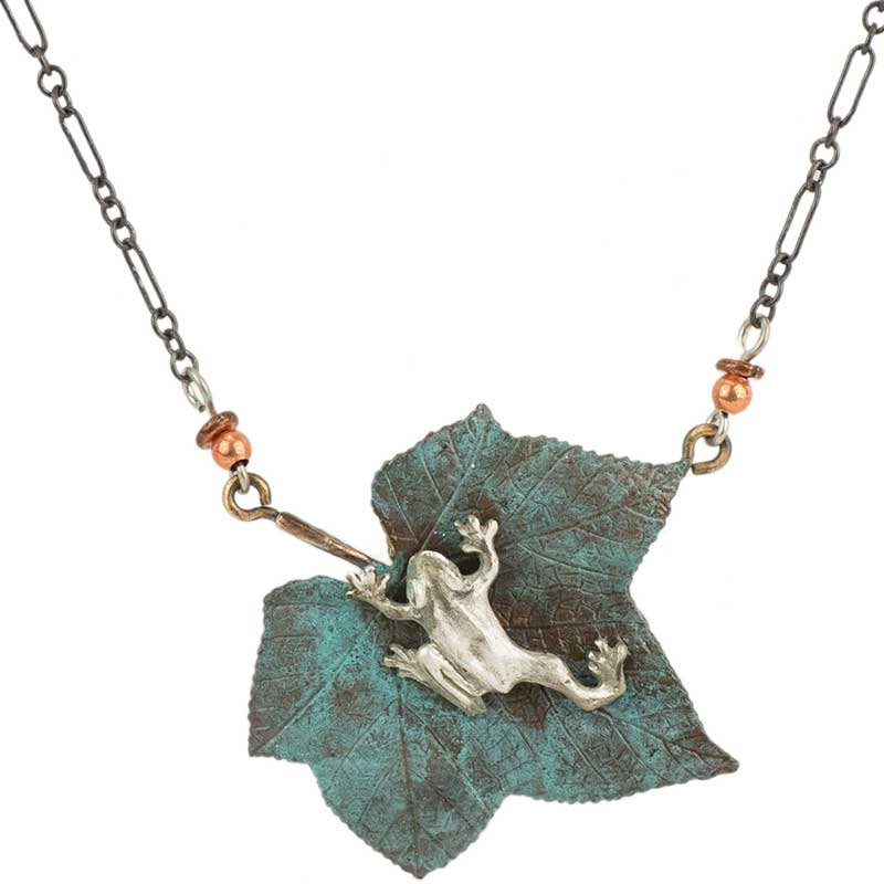 Silver Tree Frog Necklace by Cavin Richie
