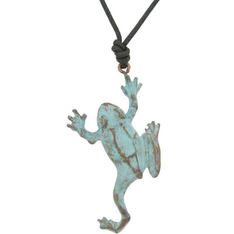Tree Frog Pendant, Bronze