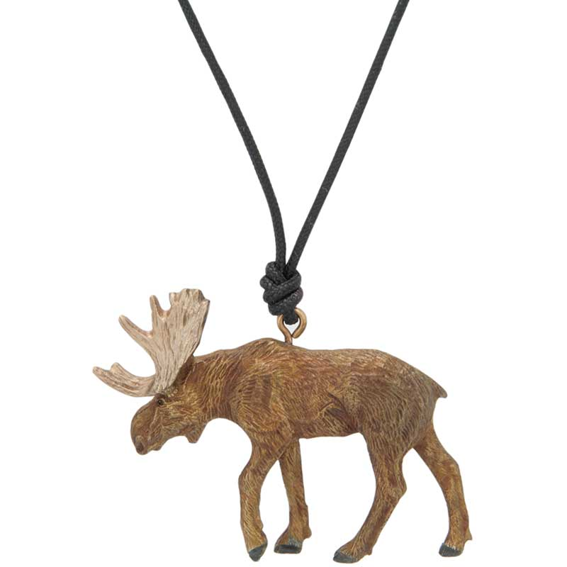 Moose Pendant, Bronze
