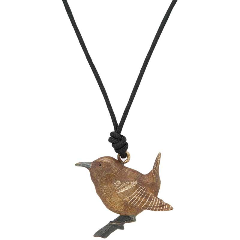 Wren Pendant, Bronze