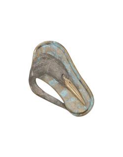 Heron Bas Relief  Pin