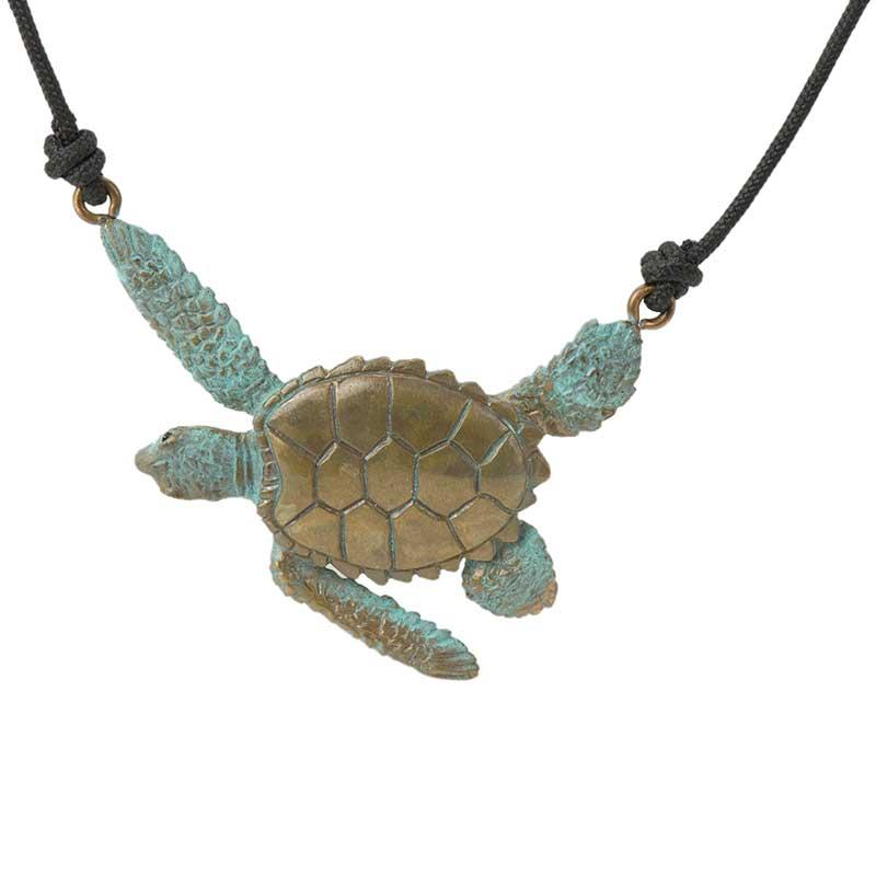Sea Turtle Pendant, Bronze