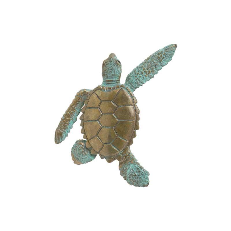 Sea Turtle Pin, Bronze