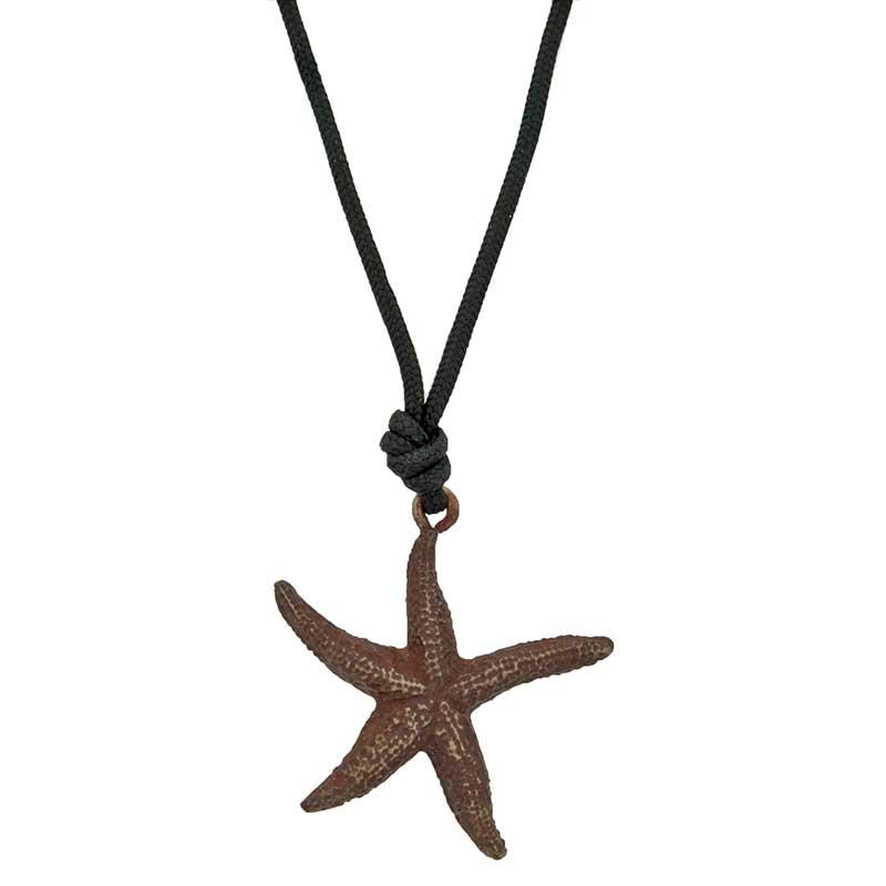 Starfish Pendant, Bronze
