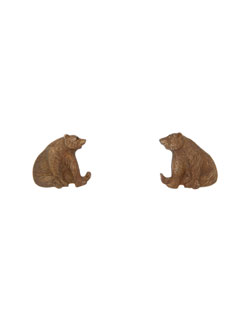 Sitting Grizzly Earrings, Post