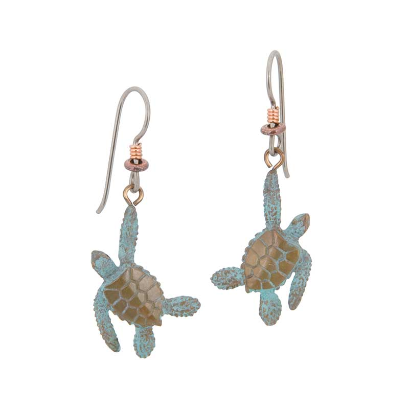 Sea Turtle Earrings by Cavin Richie