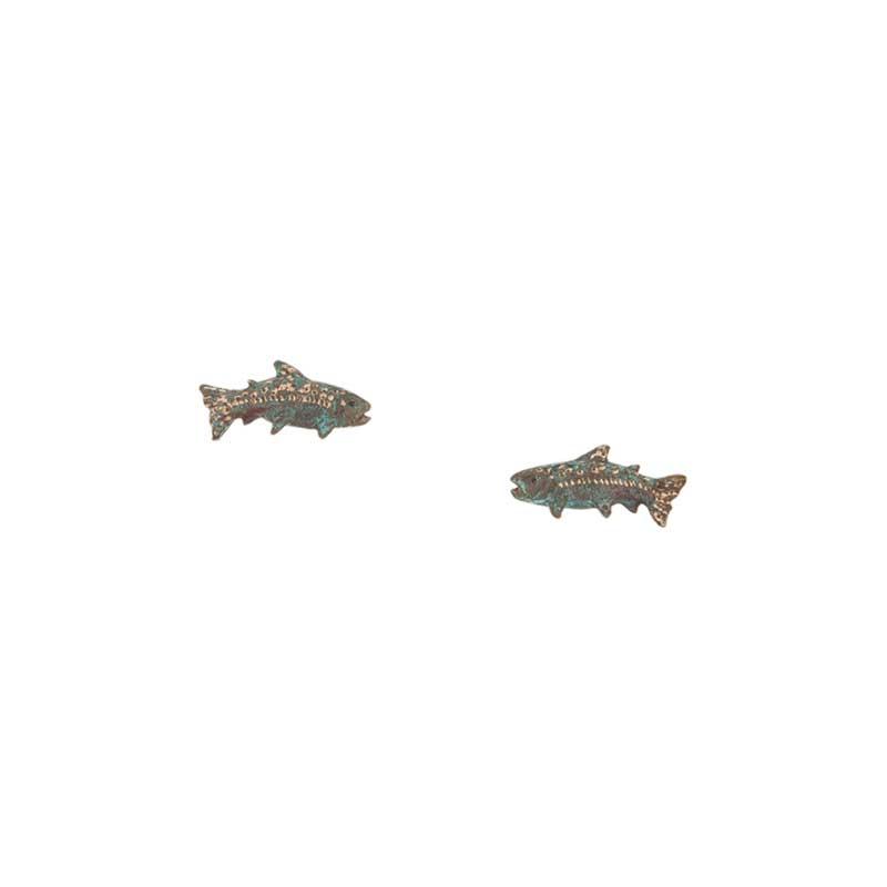 King Salmon Earrings, Post