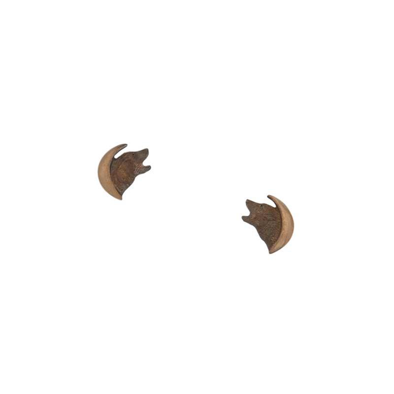 Wolf in the Moon Earrings, Post