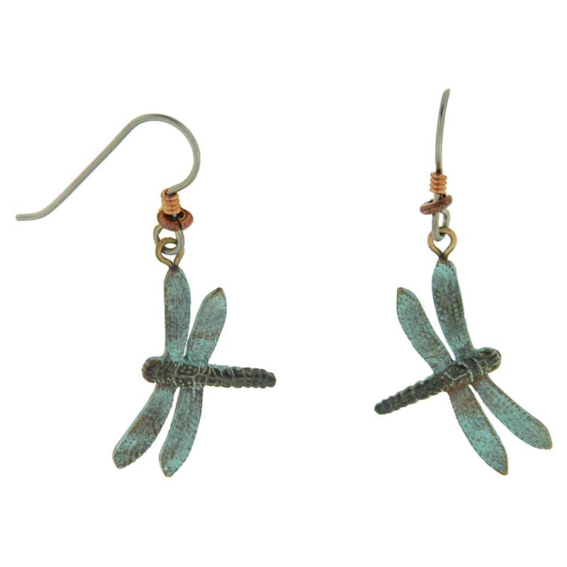 Green Dragonfly Earrings by Cavin Richie
