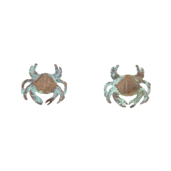 Dungeness Crab Earrings, Post