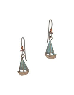 Buzzard's Bay Sailboat  Earrings