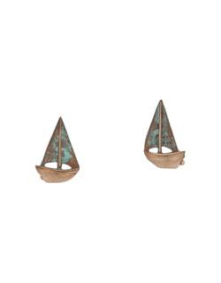 Buzzard's Bay Sailboat  Earrings, Post