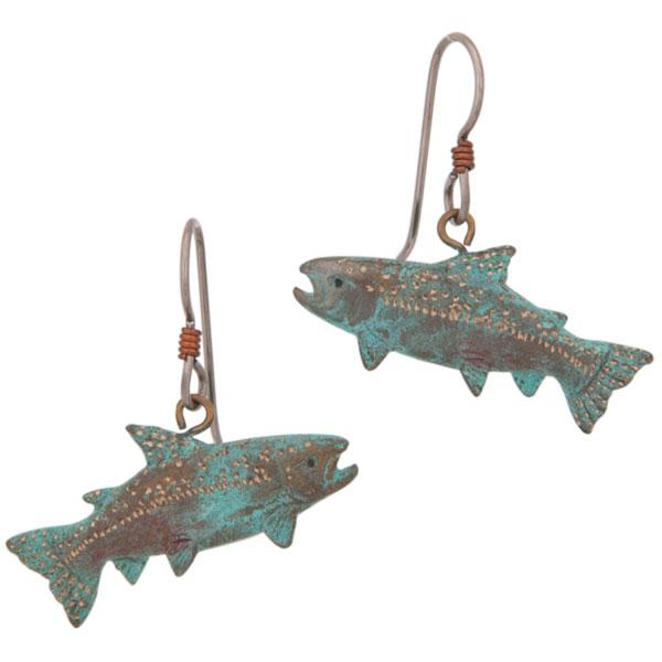 King Salmon Earrings, Fishhook