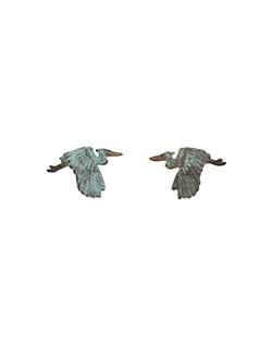 Heron Flying  Earrings, Post