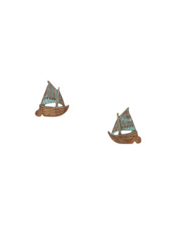 Gaff Sailboat  Earrings, Post